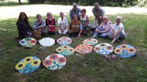 Zonnebloempaneel beschilderen 17-6-2017