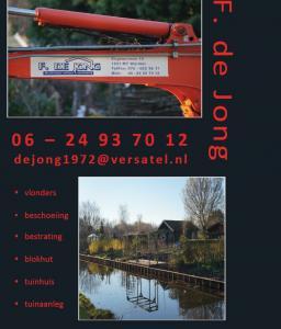 Advertentie Freerk de Jong