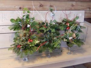 Kerststukjes maken 9-12-17